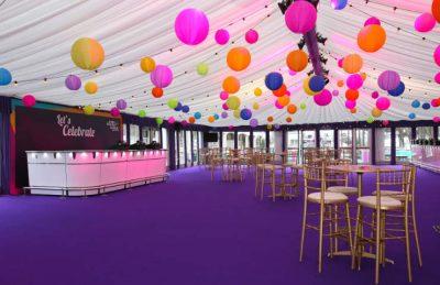 paper lanterns for indoor marquee design and decor event rentals