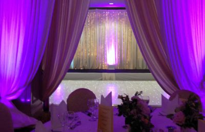 twinkly white dance floor rental for weddings
