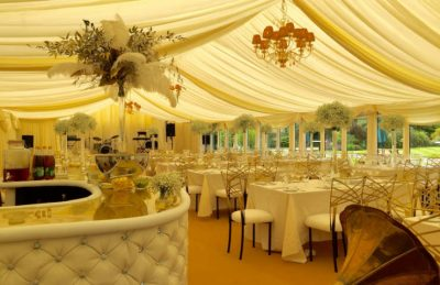 ivory drapery rentals for marquee decorating for events