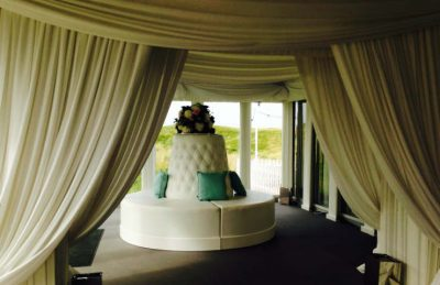 wedding pagodas interior in ivory and white furniture