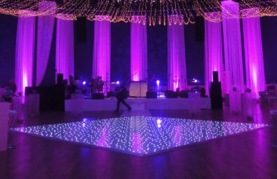 Sparkle white dance floor rental weddings events