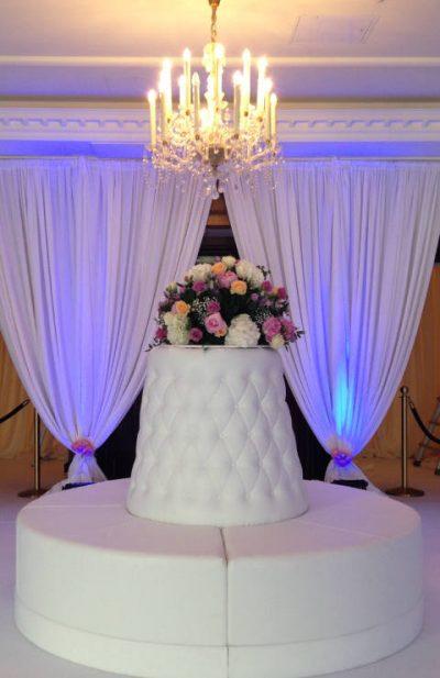 bespoke wedding furniture rentals in white leather