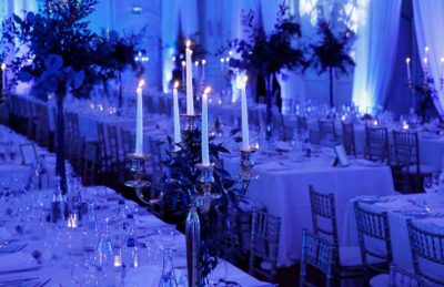 gold candelabras for hire and rental for events like weddings and corporate christmas parties for top tables