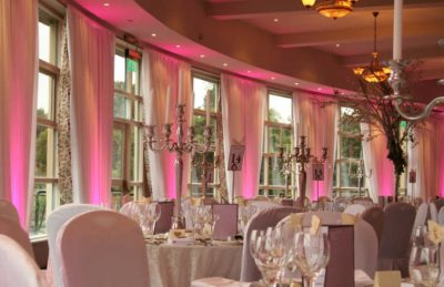 gold candelabras for hire and rental for events like weddings, corporate parties and white linen