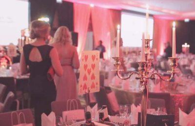 tall golden candelabras for gala event decorating rental